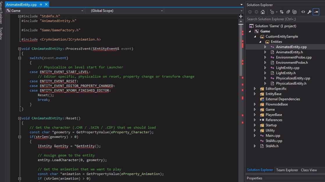 Custom C++ Entity Game Sample